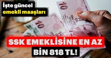 SSK emeklisine en az bin 818 lira! En düşük ve en yüksek güncel emekli maaşları