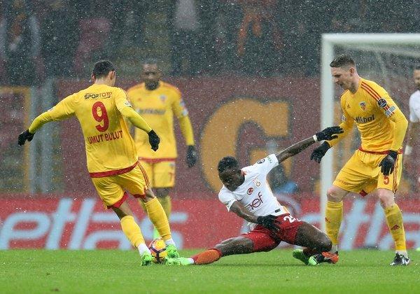 Galatasaray-Kayserispor maçından kareler