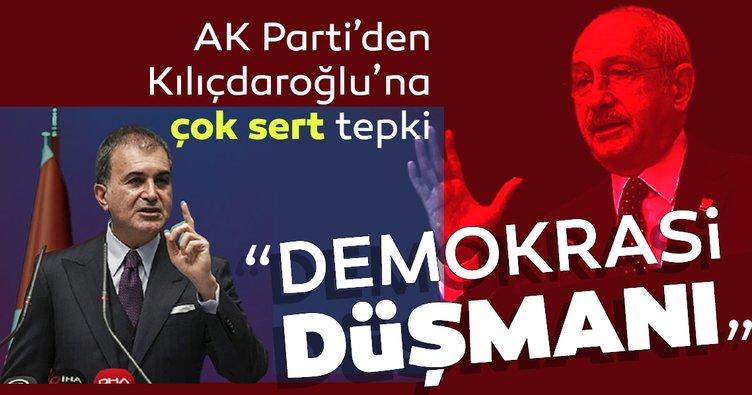 """AK Parti Sözcüsü Ömer Çelik:""""Kılıçdaroğlu, demokrasi düşmanı olduğunu itiraf etti"""""""