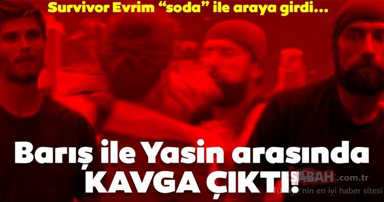 Survivor Barış Murat Yağcı ve Yasin Obuz arasında kavga çıktı! Survivor Evrim ise soda ile dahil oldu!
