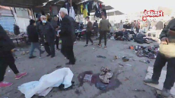 Bağdat'taki çifte intihar saldırısını DEAŞ üstlendi | Video