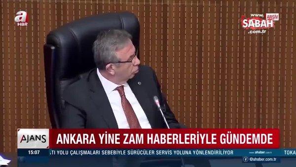 CHP'li Mansur Yavaş zam yaptı AK Parti durdurdu | Video