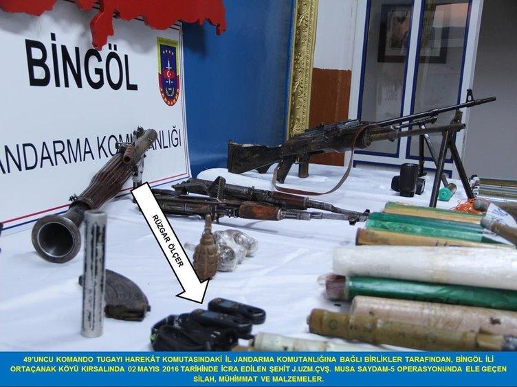Bingöl'de PKK'nın mühimmat deposu bulundu!