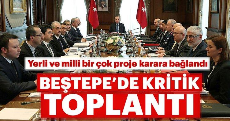Erdoğan başkanlığında Beştepe'de kritik toplantı