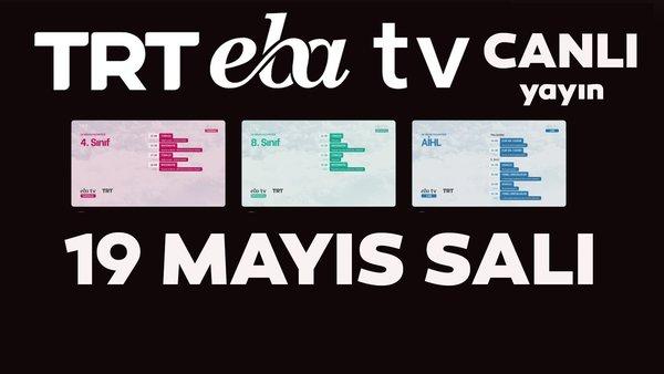 TRT EBA TV izle! (19 Mayıs 2020 Salı) 'Uzaktan Eğitim' Ortaokul, İlkokul, Lise kanalları canlı yayın | Video
