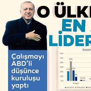 Başkan Erdoğan o ülkede en sevilen dünya lideri oldu
