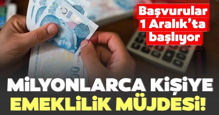 Son dakika haberi: Bağ-Kur'lulara emeklilik müjdesi! Başvurular 1 Aralık'ta başlıyor...