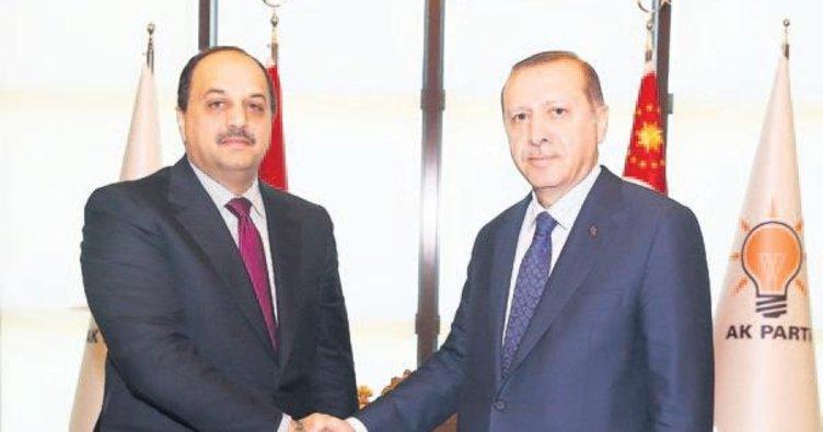 Erdoğan Katar Savunma Bakanı'nı kabul etti