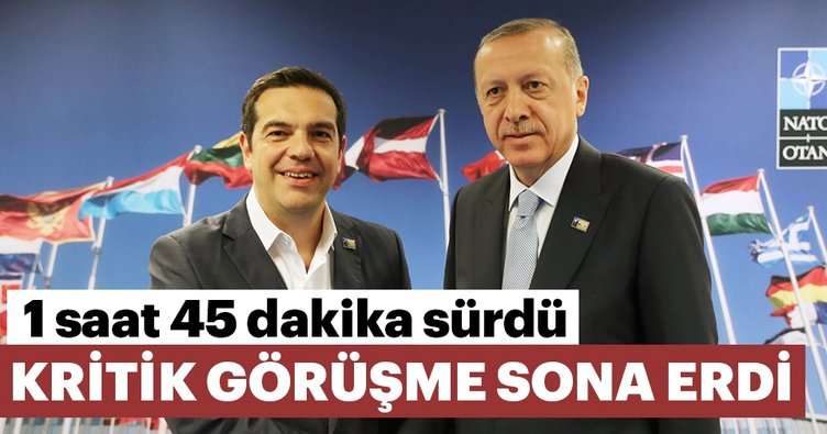 Erdoğan - Çipras görüşmesi sona erdi