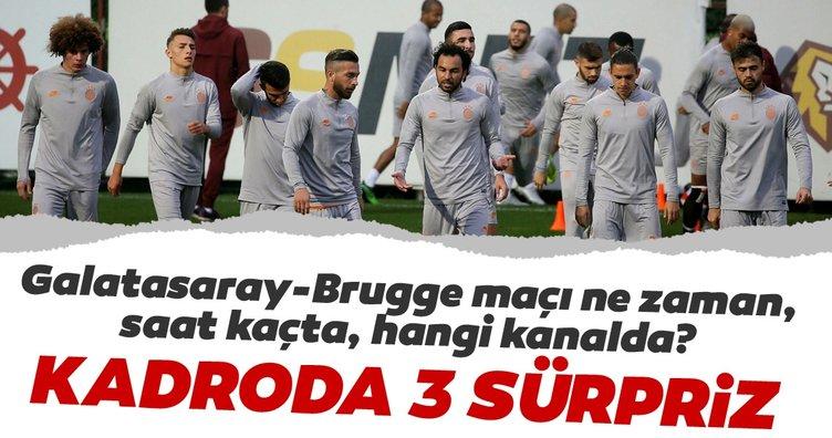 Galatasaray - Brugge maçı ne zaman saat kaçta hangi kanalda? İşte Galatasaray'ın muhtemel 11'i...