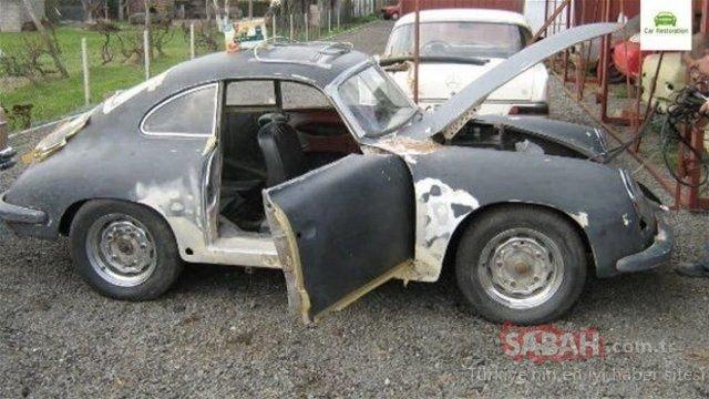 Kimse aynı araç olduğuna inanmadı! Çürümüş aracı bakın ne hale getirdiler