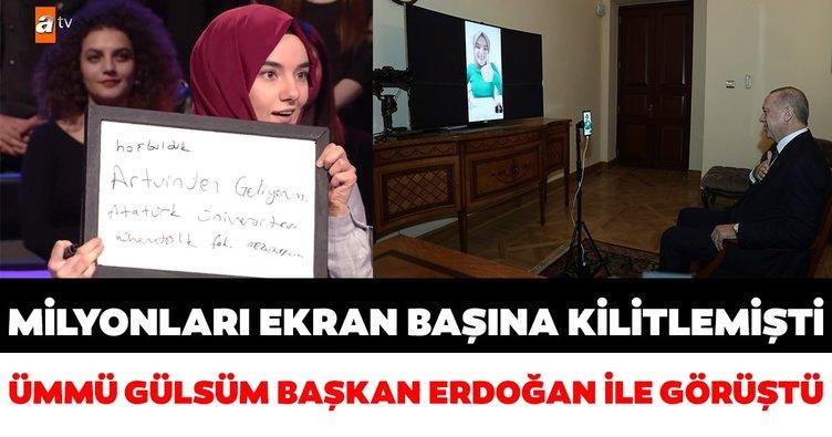 Başkan Recep Tayyip Erdoğan, Ümmü Gülsüm Genç ile görüştü