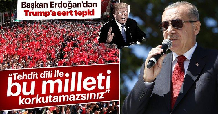 Başkan Erdoğan'dan ABD'ye sert tepki: Siz NATO'daki ortağınızı bir papaza değişiyorsunuz!