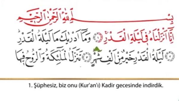 Kadir Suresi dinle! Kadir Suresi 'nin Arapça (tecvidli) okunuşu ve Türkçe anlamı!   Video