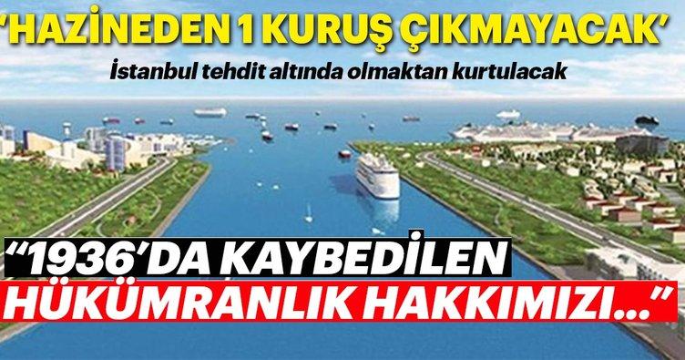 Kanal İstanbul için, hazineden 1 kuruş çıkmayacak