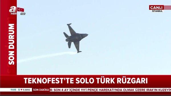 TEKNOFEST'te Solo Türk rüzgarı!