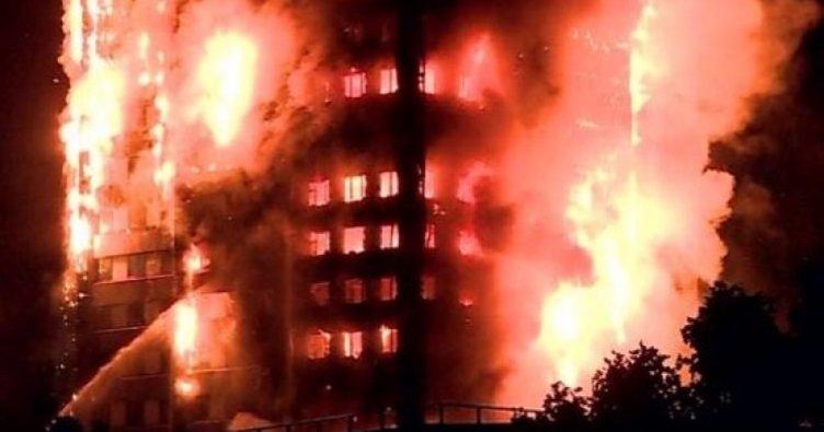 Londra'da 5 büyük binada yangın tahliyesi