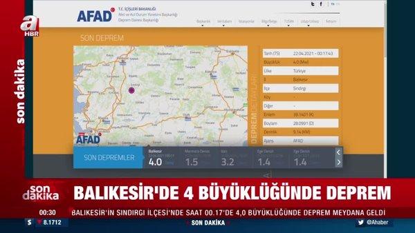 Son Dakika Haberi... Balıkesir'de 4.0 büyüklüğünde deprem! | Video