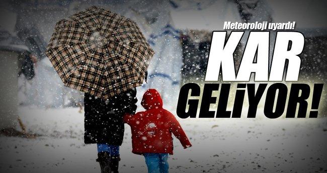 Meteoroloji'den son dakika kar yağışı uyarısı!