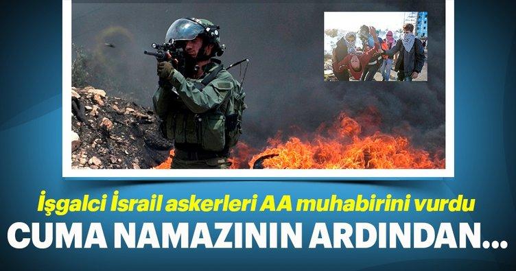 İsrail askerleri, AA foto muhabiri yaralandı