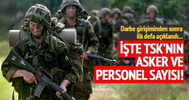 TSK 15 Temmuz'dan sonra ilk defa personel sayısını açıkladı