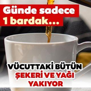 Günde 1 bardak kahve içerseniz vücuttaki bütün yağı ve şekeri yakıyor! İşte kahvenin vücudumuza etkileri...