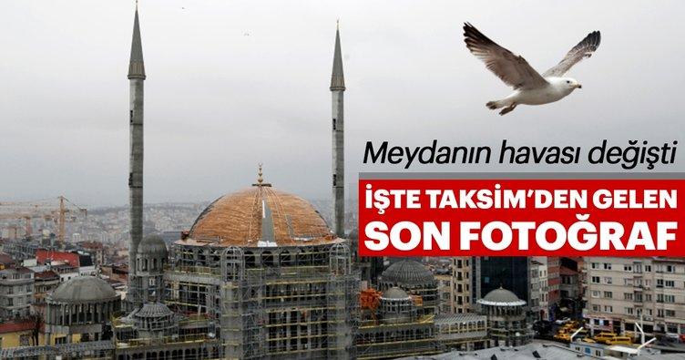 Taksim Camii'nden son kare