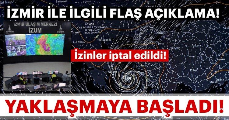 Son dakika haberi: İzmir ile ilgili flaş açıklama! Tropik fırtına yaklaşıyor!