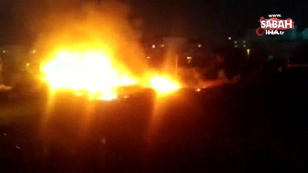 İstanbul Ataşehir'de elektrik kabloları yangına neden oldu   Video