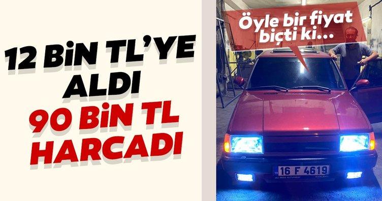Bursa'dan şaşırtan haber! 12 bin liraya aldığı otomobili 90 bin liraya yeniledi