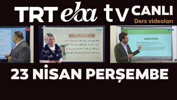 TRT EBA TV izle! (23 Nisan 2020 Perşembe) 'Uzaktan Eğitim' Ortaokul, İlkokul, Lise 23 Nisan özel canlı yayınları | Video