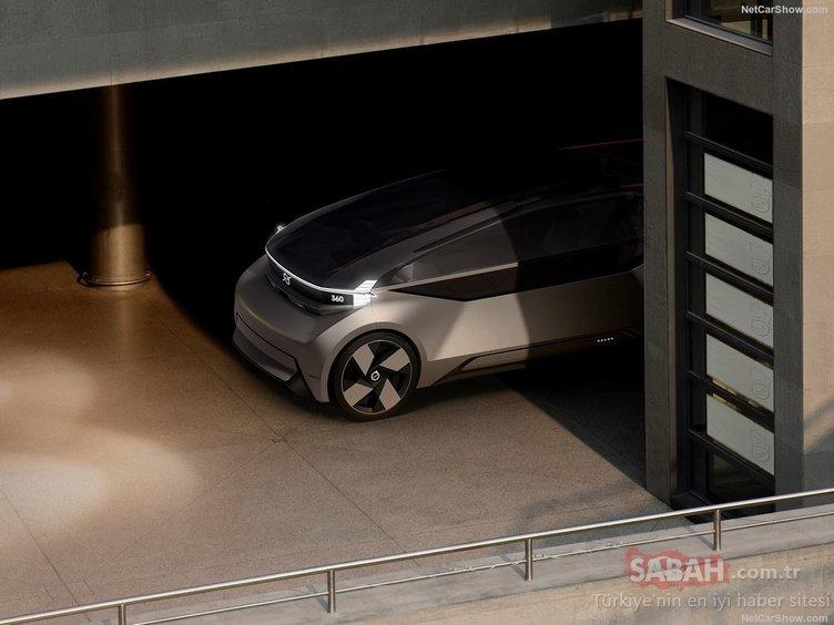 Volvo 360c süper otonom konseptini tanıttı! (İçi oturma odası gibi)