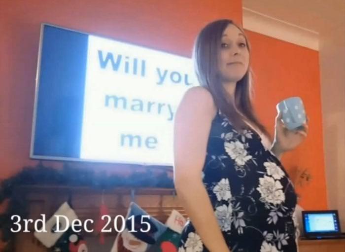 5 ay selfie çekerek evlenme teklif etti