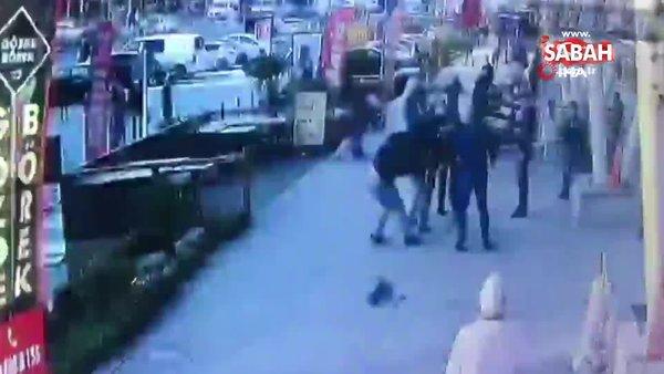İstanbul Esenyurt'taki meydan kavgası kamerada | Video
