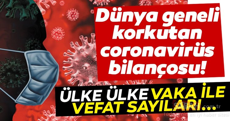 SON DAKİKA HABERİ: Dünya genelinde korkutan corona virüs bilançosu! İşte ülke ülke vaka ve ölüm sayıları…