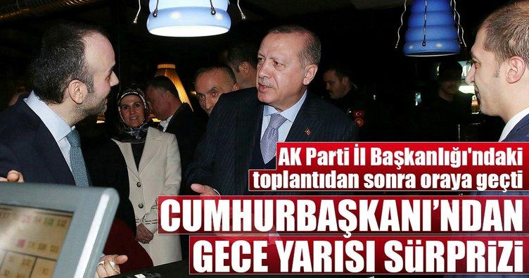 Cumhurbaşkanı Erdoğan'dan gece sürprizi