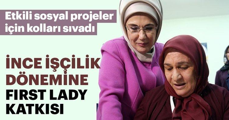 İnce işçilik dönemine First Lady Emine Erdoğan katkısı