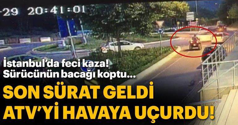 İstanbul'da feci ATV kazası!