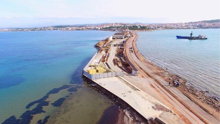 Cunda Köprüsü '350 fore kazık' üzerinde yükseliyor