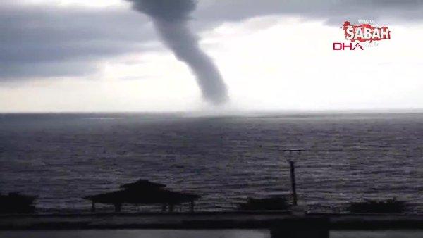 Son dakika haberi... Antalya Gazipaşa'da denizde korkutan hortum | Video