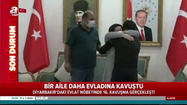 Diyarbakır'da evlat nöbetinde bir aile daha evladına kavuştu! | Video