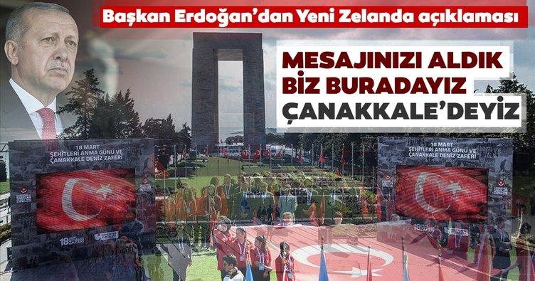 Çanakkale Zaferi'nin 104.yılı... Başkan Erdoğan'dan önemli açıklamalar