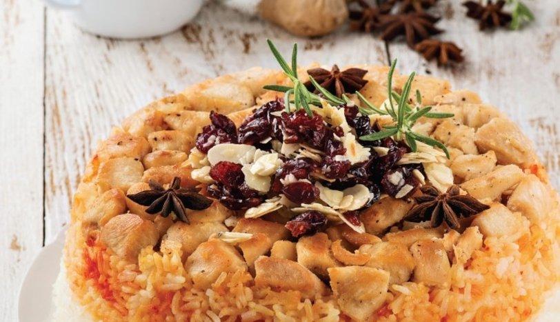 Baharatlı ve yaban mersinli pilav tarifi