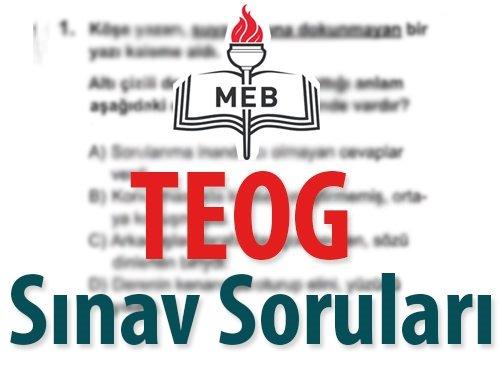 İşte TEOG 2016 Sınav Soruları ve Cevap Anahtarları: Türkçe, Matematik, Fen