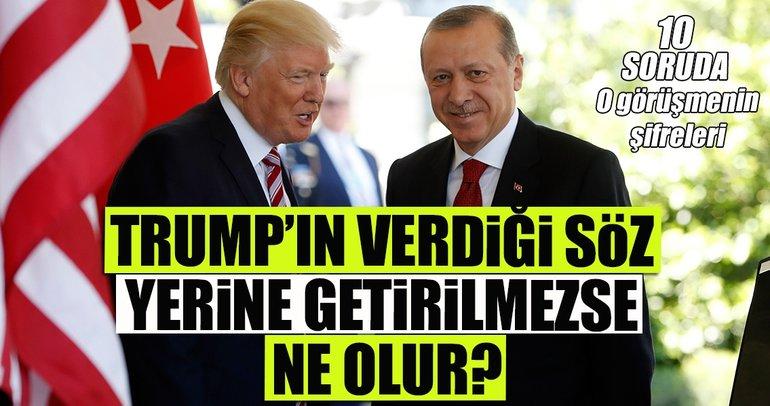 Erdoğan- Trump görüşmesinin şifreleri