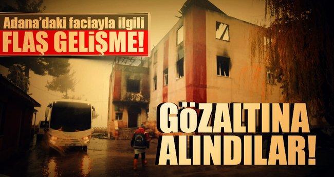 Öğrenci yurdunda çıkan yangınla ilgili 14 kişi gözaltına alındı!