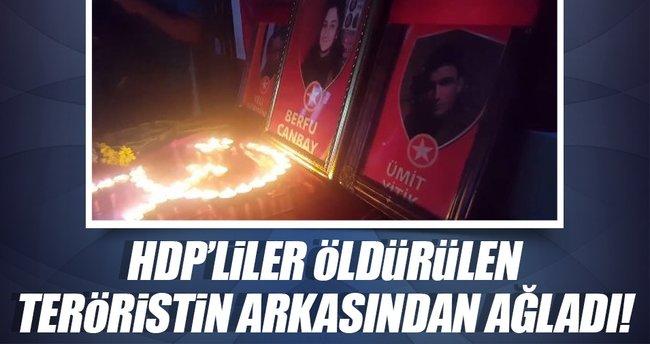 HDP'liler öldürülen teröristin arkasından ağladı