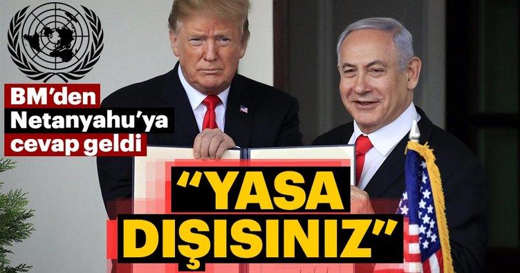 BM'den Netanyahu'ya Batı Şeria yanıtı