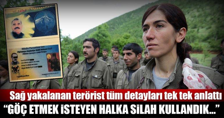 PKK-PYD'li teröristin itirafları terör örgütünün zulmünü gözler önüne serdi