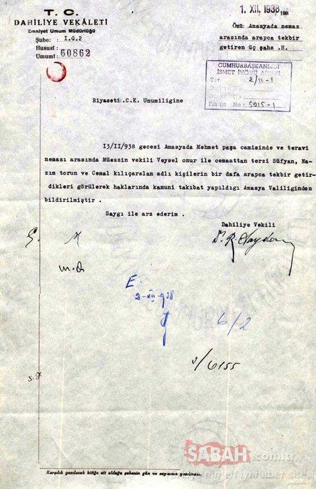 Tek parti zulmünün sadece müslümanlara değil topyekün baskıcı olduğunun belgeleri yayınlandı